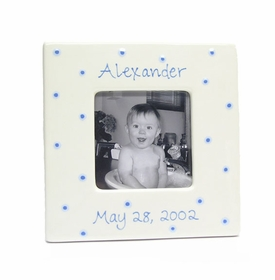 personalized picture frame blue dot