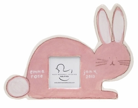 personalized pink bunny picture frame