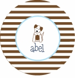 personalized puppy boy plate (style 2p)