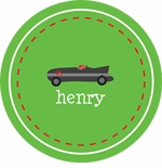 personalized race car boy plate (style 1p)
