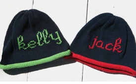 personalized roll knit hat