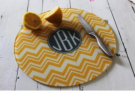 personalized round cutting board