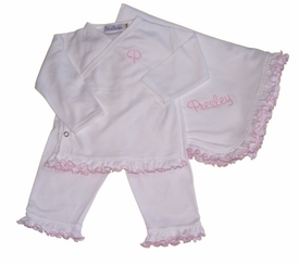 personalized ruffled 3 piece take-me-home set