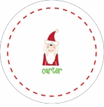 personalized santa holiday plate (style 2p)
