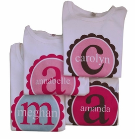 personalized scallop circle shirt