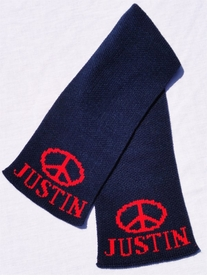 personalized scarf with name and peace