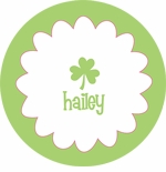 personalized shamrock holiday plate (style 1p)