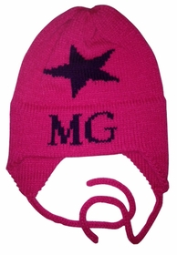 personalized Single Star Hat with Earflaps
