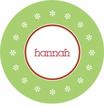 personalized snowflake holiday plate (style 1p)