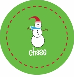 personalized snowman holiday plate (style 2p)