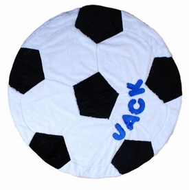 personalized soccer ball blanket