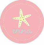 personalized starfish plate(style 1p)