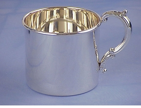 personalized sterling silver baby cup - classic