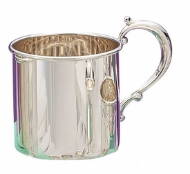 personalized sterling silver baby cup - grand