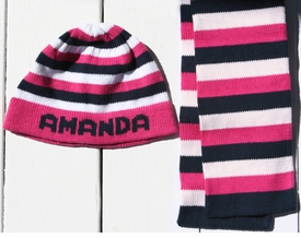 personalized stripe boarder hat