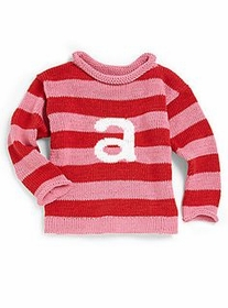 personalized stripe letter sweater  (custom colors available)