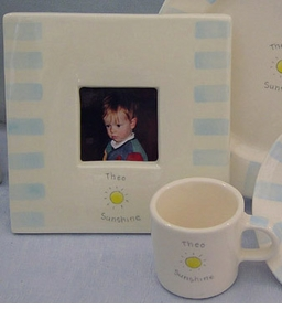 "Personalized ""Sunshine"" Ceramic Frame"