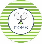 personalized tennis boy plate (style 2p)