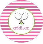 personalized tennis plate (style 1p)