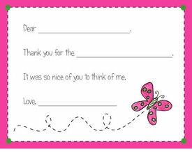 personalized thank you notes
