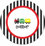 personalized train boy plate (style 1p)