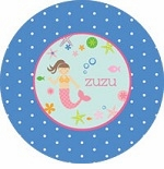personalized underwater mermaid plate