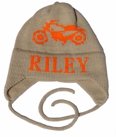 personalized vintage motorcycle hat with earflaps