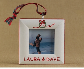 personalized wreath christmas ornament