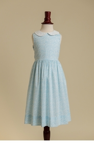 peter pan collared dress - heavenly blue