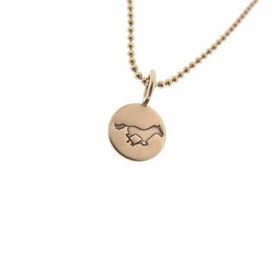 petite personalized gold necklace