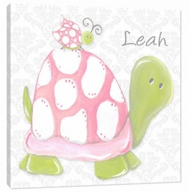 pink lady turtle wall art