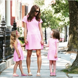 pink stripe jetty tee dress