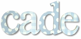 """polka dots and gingham nantucket 8"""" wooden hanging letters"""