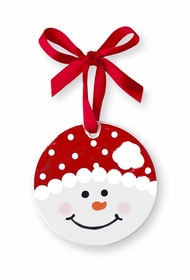 red snowman personalized christmas ornament