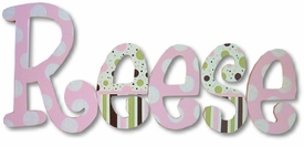 """reeses patterns 8"""" wooden hanging letters"""