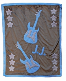 rock and roll (over) baby blanket