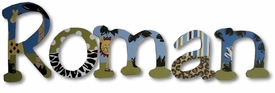 """roman's jungle 8"""" wooden wall letters"""