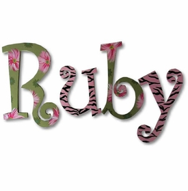 """ruby's garden 8"""" wooden hanging letters"""