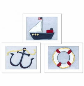 sail away wall art set - SOLD OUT