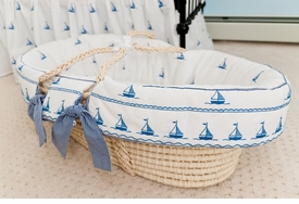 sailboat moses basket by sweet william - currently unavailable