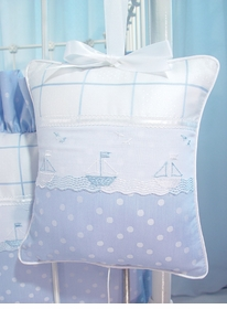sailboats blue crib bedding set