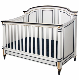 Sailor Crib White And Navy