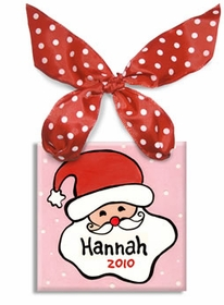 santa ornament (girl) - personalized