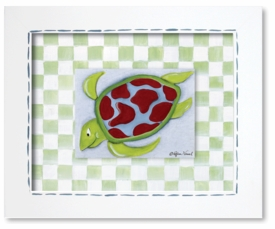sea turtle framed giclee reproduction wall art - SOLD OUT