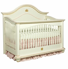 serafina crib with crown appliqued moulding