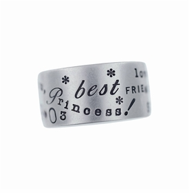 silver 10mm band ring