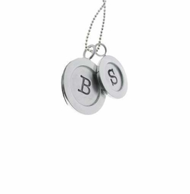 silver wide rimmed charm necklace