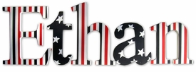 """simply patriotic nantucket style 8"""" wooden hanging letters"""