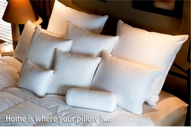 sleeping pillows and duvets