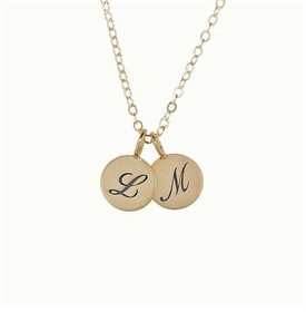 small 14k charm combo necklace